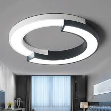 2019 modern led ceiling lights for living room flush mount lighting fixtures ceiling lamp with remote control kitchen round lamp from ok360