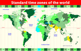 time zones map time in usa