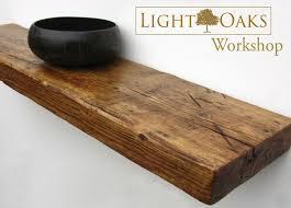 Chunky Oak Floating Shelves