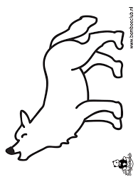 Kleurplaat Wolf Kleurplatennl