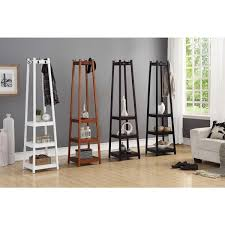 Traditional Dark Walnut Finish Wood Coat Rack Cool Shop Vassen 32Tier Storage Shelf Standing Coat Rack 32h X 32l X