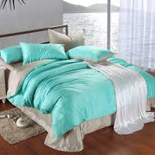 luxury bedding set king size blue green turquoise duvet cover grey sheets queen double bed in a bag linen quilt double bedsheets gift blue and gray bedding