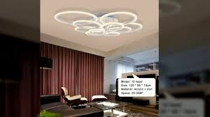 remote control modern led ceiling lights for living room bedroom lamparas de techo dimming