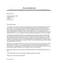 Hotel General Manager Cover Letter Sample Resume Cover Letter In