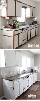 painting laminate cabinets before and after painting wood kitchen