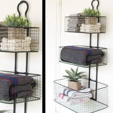 awesome top hanging wire basket wire storage basket 3 tier wall baskets in wall mounted wire storage racks attractive