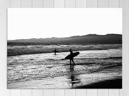 surf black and white surfing winter seascape wall art art prints trade me