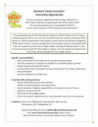 Summer Camp Counselor Resume Beautiful 51 Beautiful Youth Counselor