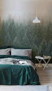 bedroom wallpaper ideas just in time for winter these moody forest wallpapers are perfect for bringing