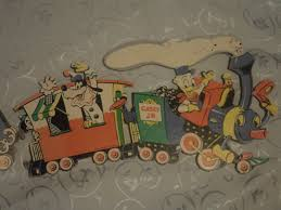 vintage disney train wall decor