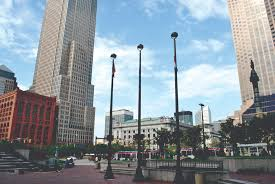 public square downtown cleveland ohio