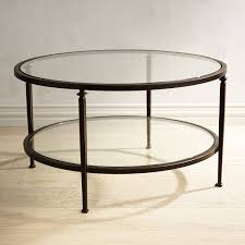 lincoln glass top round coffee table pier 1 imports