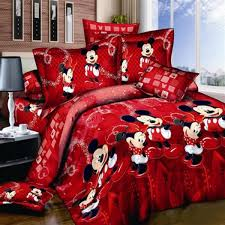 senarai harga mickey minnie bedding sets single double queen king cartoon duvet cover quilt cover pillowcase 3pcs pure cotton lovely terkini di malaysia