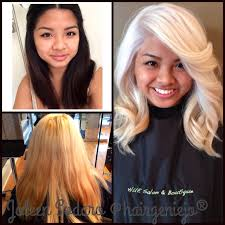 color correction brassy mess to level platinum princess this client came to salon manager joleen sodaro at hue salon boutique after four failed