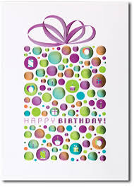 Birthday Business Cards Happy Birthday Foil Dotted Package Box Of 25 Personalized Business