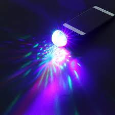 Mini Disco Ball Decorations Mini Disco Ball USB Professional RGB 100 LED Light Stage Projector 58