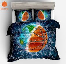 printed water basketball bedding set soft twin full king queen duvet cover with pillowcases quilt cover home textile sj208 gray twin comforter duvet covers