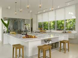 window treatments on a budget contemporary kitchen