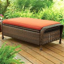 wicker pouf ottoman sling rattan storage outdoor fabric ottomans living room furniture interior ideas round woven patio bench small and poufs leather oversized chair