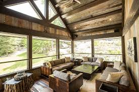 ... Unique coffee tables crafted from twigs steals the show in this rustic  sunroom [Design: