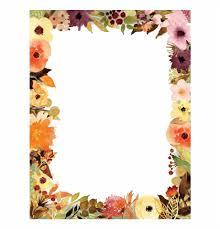 Paper With Flower Border Flower Border For Bond Paper Transparent Png Download For