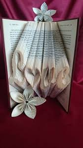 book folding pattern for love with an inverted heart as the o love hollow heart free tutorial