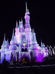 Fairy Castle Night Light Hd Wallpaper Disneyland Castle With Lights During Daytime