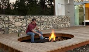 stone gabion fire pit