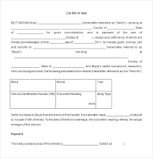 Personal Bill Of Sale For Car Download Bill Of Sale Template Car In Word Doc For Free