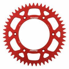 Supersprox Aluminum Red Motorcycle Chains Sprockets And