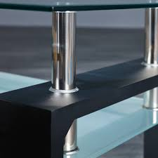 Links 50100045 Daan Table Basse Noir 100 X 60 X 45 Cm Amazon Fr