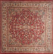 persian moshk abad red square  ft and larger wool carpet