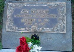 Fay Iva Stinson Nordin (1916-2001) - Find A Grave Memorial