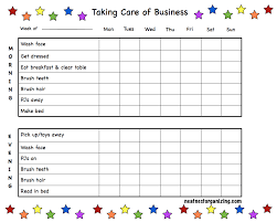 Kids Daily Routine Chart Pin By Homegrown Hoosiers On Printouts Kids Morning