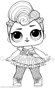 Lol Dolls Colouring Page Get Coloring Pages