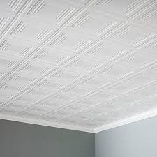 top fasade portrait 2 ft x 4 ft glue up ceiling tile in matte white regarding glue up ceiling tiles decor