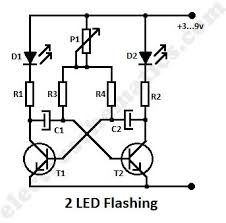 index led and light circuit circuit diagram com led flashing circuit