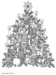 You've come to the right place! 45 Free Christmas Coloring Pages For Adults 2017