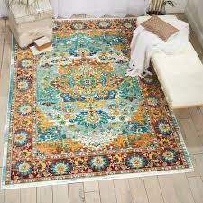 dlm08 delmar multicoloured rectangle arabesque geometric nourison rug