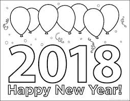 New Years Coloring Page Trustbanksurinamecom