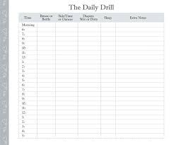 Time Log Template Printable Running Sheet For Your Journal ...