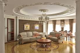 Interior:Classy Living Room With Crown Moldings On The Ceiling Design Above  Chesterfield Sofa Classy