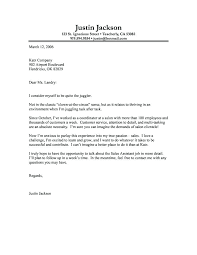 Covering Letters For Job Sample Cover Letters For A Job Sample