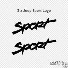 jeep wrangler sport logo. Beautiful Logo Image Is Loading 2xJeepSportlogoStickerDecalWRANGLERMOAB In Jeep Wrangler Sport Logo O