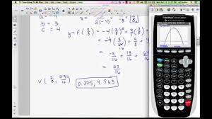 math ysis quadratic equation finding vertex of quadratic equation in standard form you