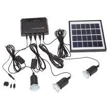 4w solar power panel led light lamp usb charger home system kit outdoor garden