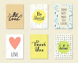 Cute Hand Drawn Doodle Postcards Cards Covers With Different