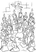 Small Picture Pentecost Seven Gifts of the Holy Spirit coloring page Free