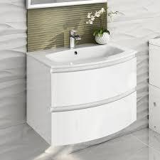 bathroom vanity 700mm modern white vanity unit curved bathroom furniture sink fresh idea wall hung units