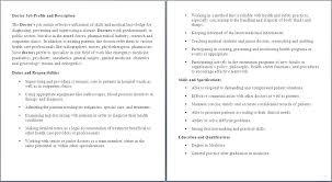 Medical Assistant Description Resume Medical Assistant Duties